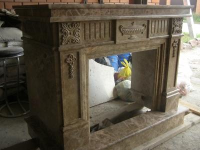 Изготовление каминов из мрамора